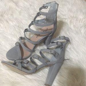 NWOT Caged sandals block heel